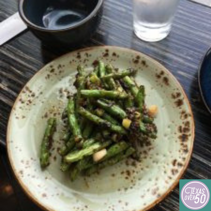 The dry-fried green beans are from vegetable heaven!