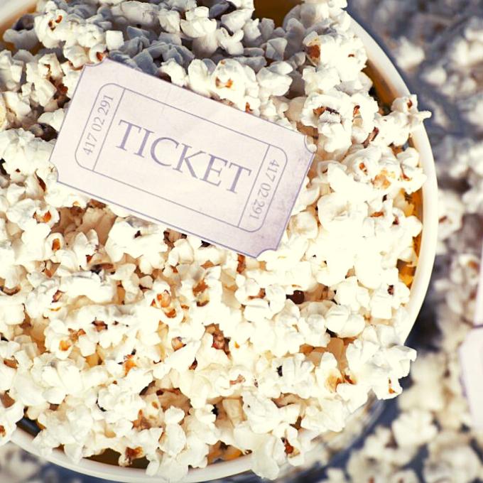 Movie Popcorn is delicious at Violet Crown Cinema in Austin, Texas