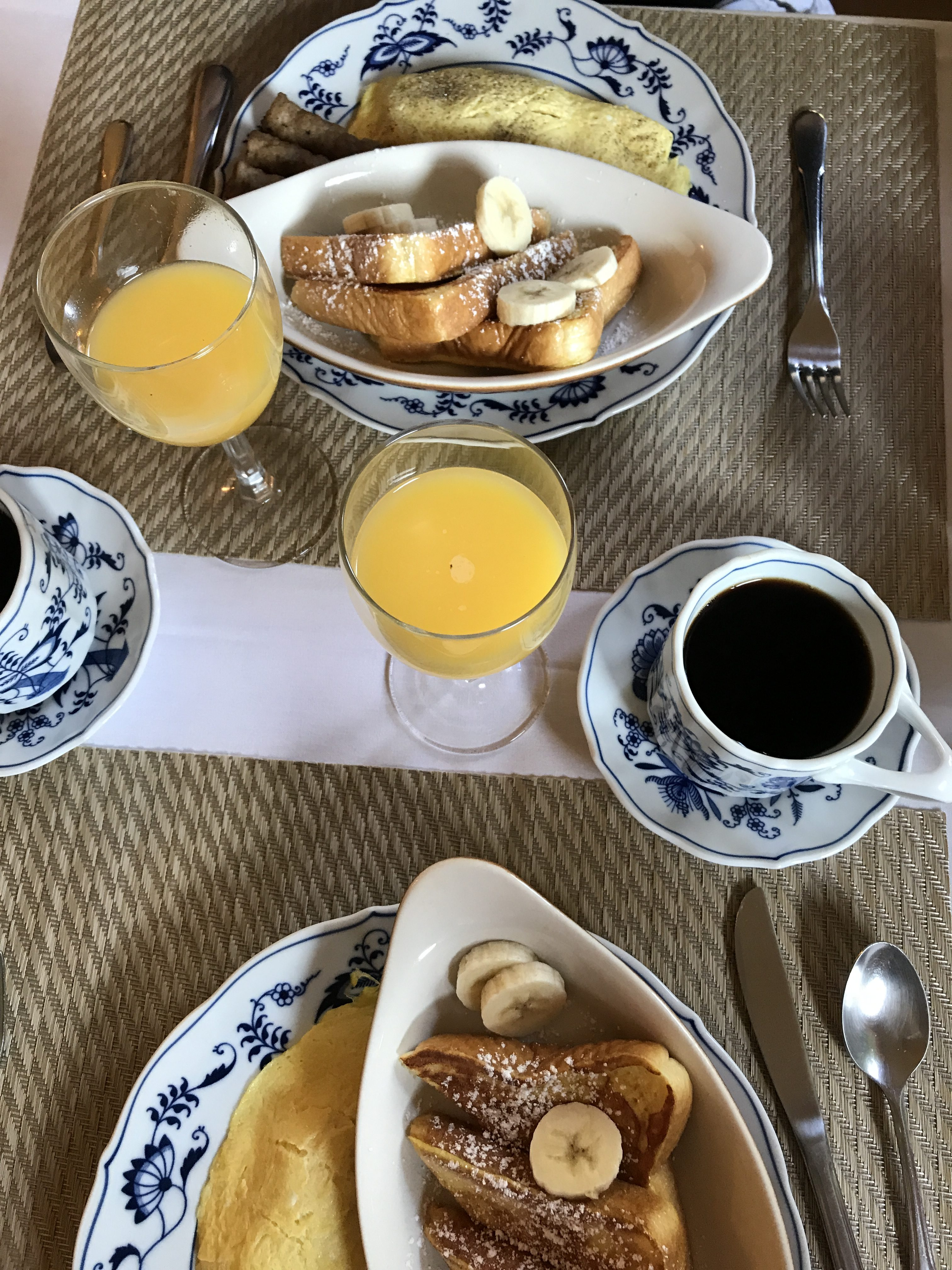 Gourmet Breakfast at Chantilly Lace Country Inn - An Anniversary Weekend in Johnson City, Texas
