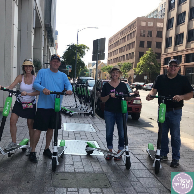 Touring Downtown Austin on Scooters