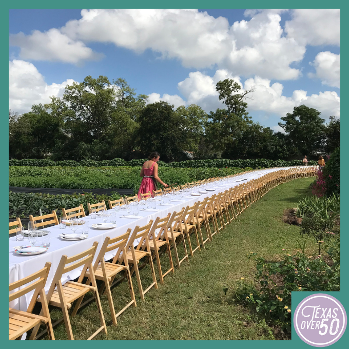 Outstanding in the Field Long Table Setup