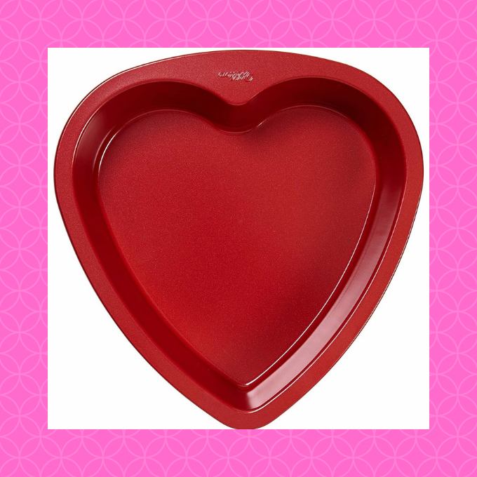 Say Happy Valentine's Day with a heart shaped coffee cake!