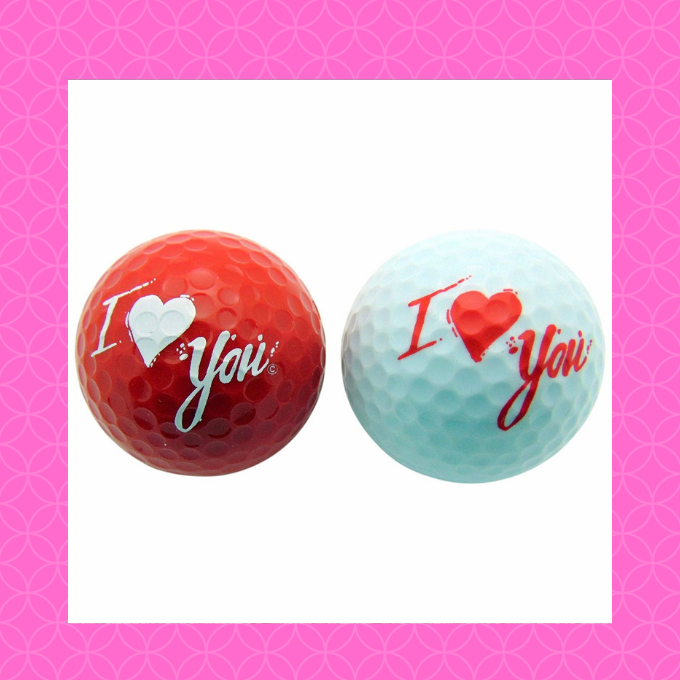 Every golfer needs a set of red and white balls for Valentine's Day. .